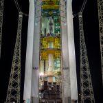 El satélite Aeolus ya se encuentra en la torre de lanzamiento