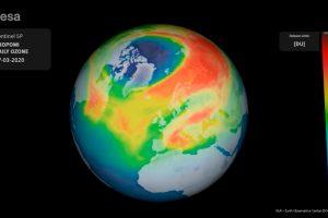 Sentinel 5-P, Copernicus, ESA, agujero ozono Ártico