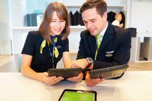 Las tripulaciones de airBaltic incorporan el uso de iPads