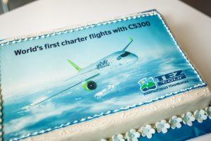 Primer vuelo chárter del CS300