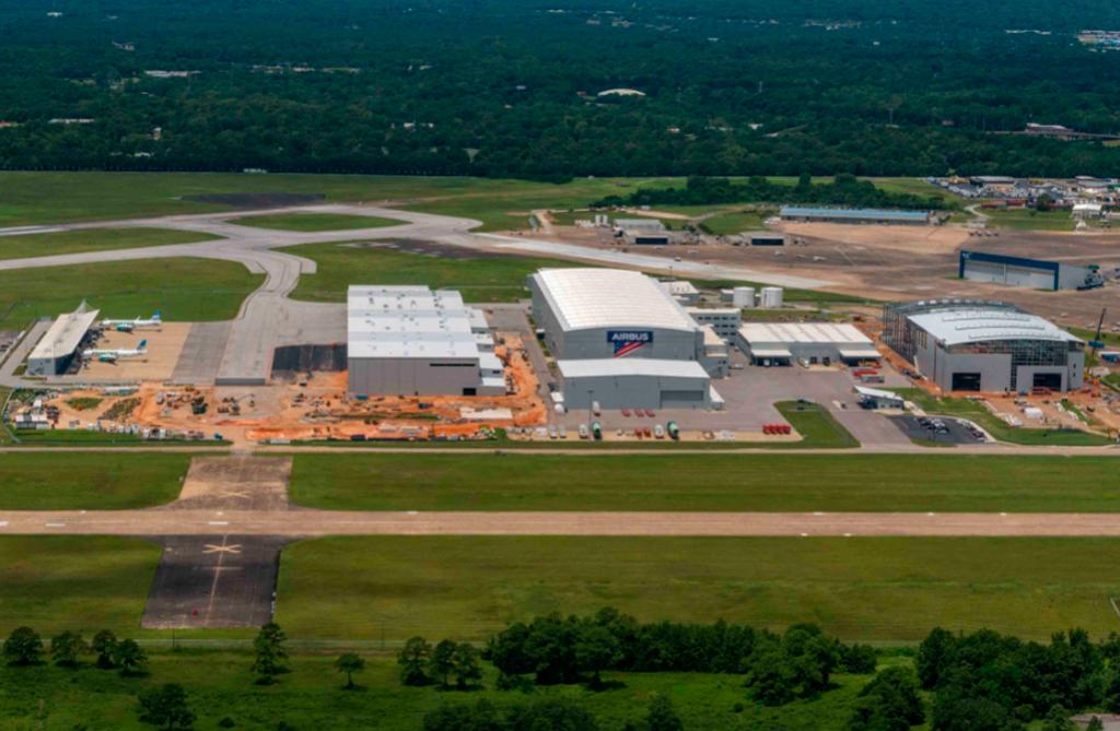 Instalaciones de Airbus en Estados Unidos.