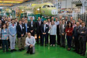 El Clúster de Sistemas Aeroespaciales del PTA visita la PreFal de Airbus en Tablada, Sevilla