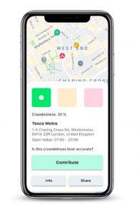 App, distanciamiento social