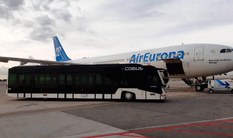 Autobus, eléctrico, Groundforce, El Prat