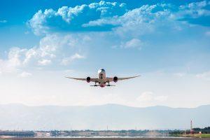 Avion aterrizando en Barajas