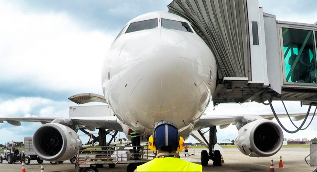 finger, avión, aeropuerto