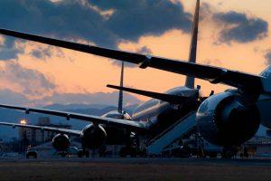 aviones, aviones aparcados