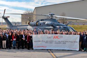 AW139 número 300 en Filadelfia