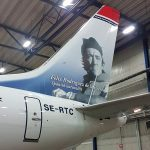 Norwegian recibe un B737 MAX8 con la imagen del español Félix Rodríguez de la Fuente