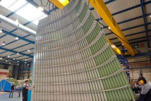 Las primeras grandes secciones del Beluga XL llegan a la línea de ensamblaje final
