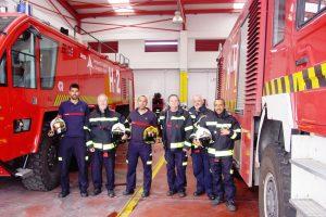 El Servicio de Extinción de Incendios del Aeropuerto de Málaga dona equipos de intervención a Bomberos Sin Fronteras