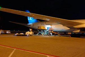 Air Europa, Bali, carga
