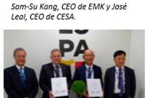 CESA firma un contrato con EMK dentro del programa del caza KF-X