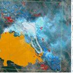 Mapeo de incendios de Chernobyl desde el espacio
