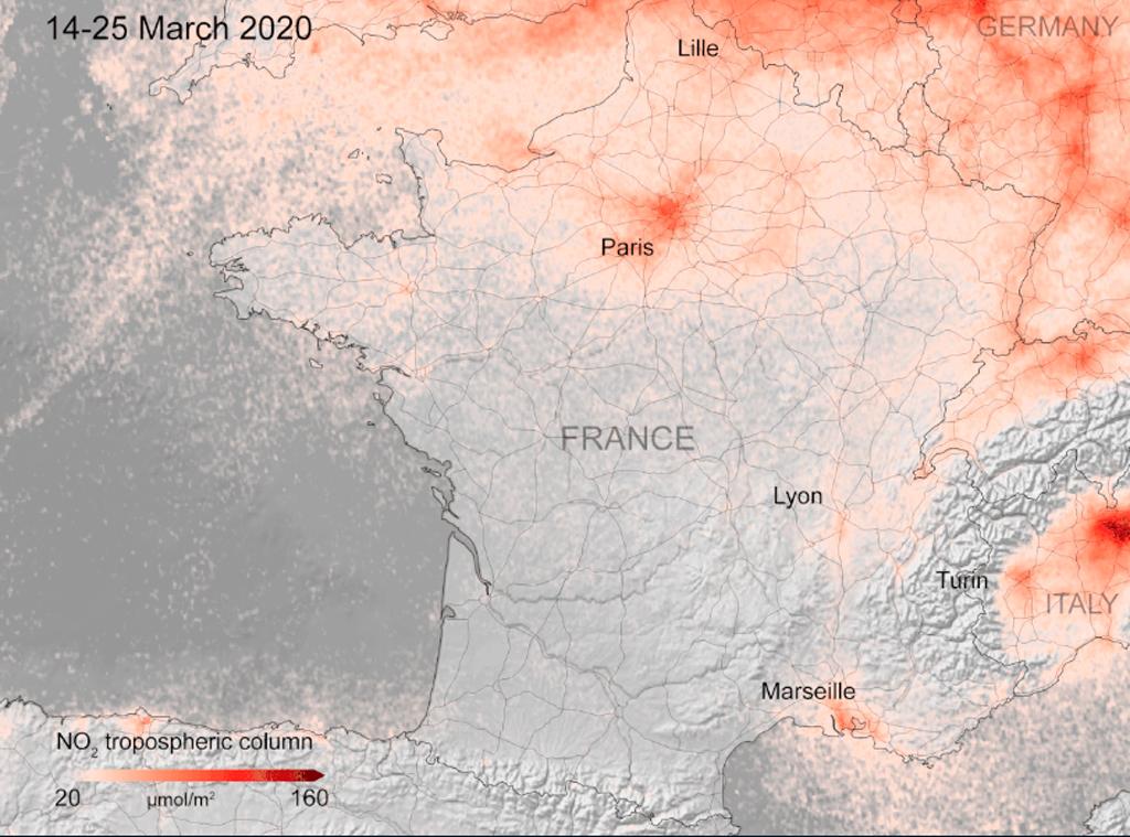 Contaminacion, Francia, covid19,Sentinel