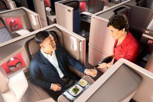 Los pasajeros de Delta One podrán reservar su comida por anticipado