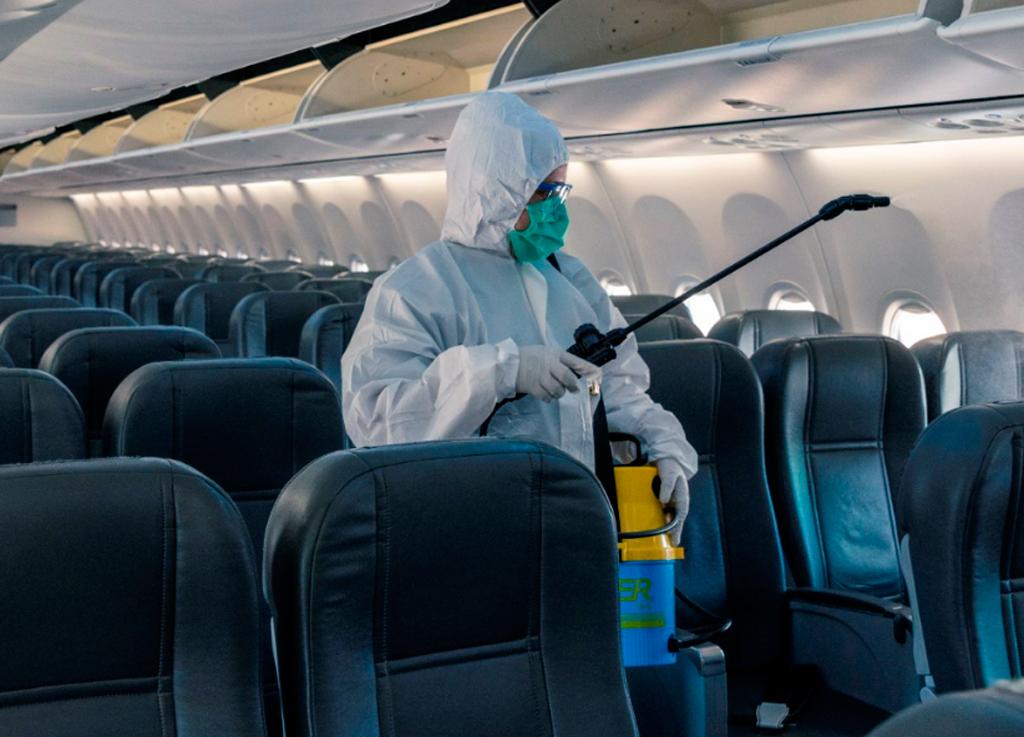 desinfeccion avión, Aerolíneas Argentinas