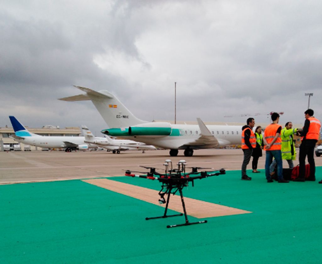 dron, aeropuerto, aena