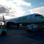 El primer E195-E2 de Binter aterriza en Canarias