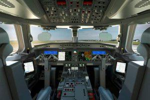 Interior de cabina del E195-e2