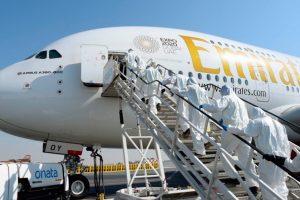 A380, Emirates, Desinfección, Avión, Coronavirus
