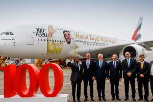 Emirates recibe su centésimo A380