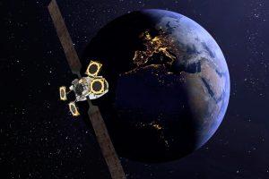 Recreación del satélite Eutelsat Konnect