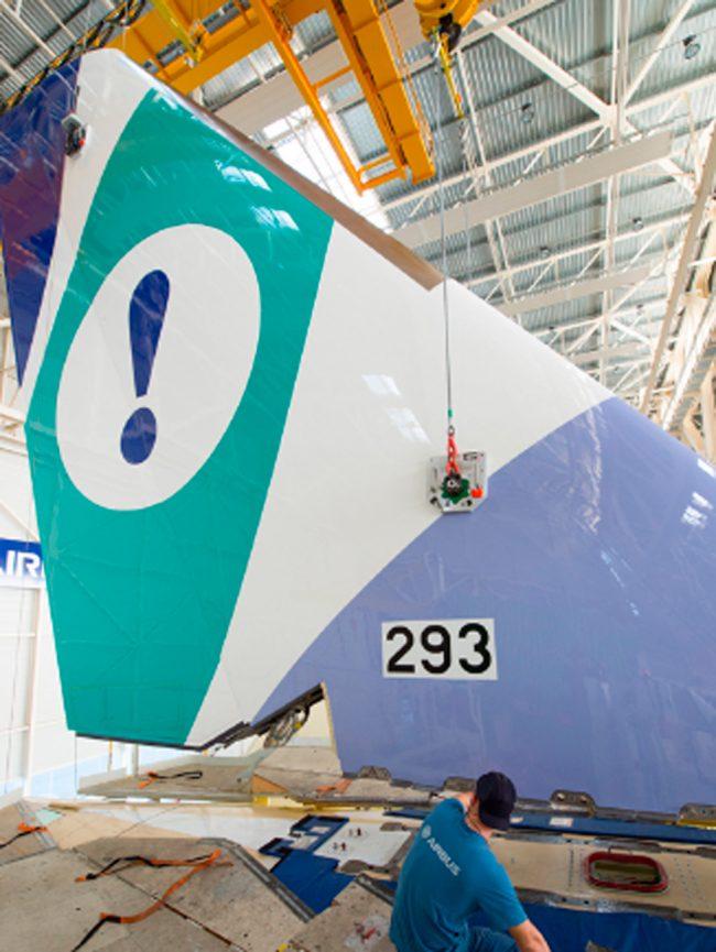 El nuevo A350-900 de Evelop ya está en la FAL