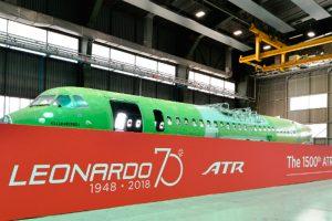 Leonardo entrega el fuselaje 1500 a ATR