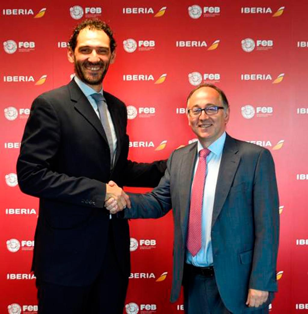 Luis Gallego (Derecha) con Jorge Garbajosa (Izquierda)