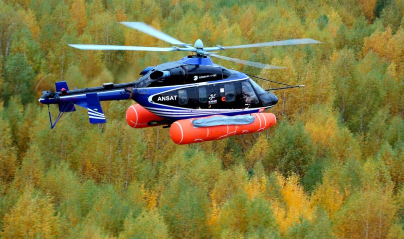 Ansat, Russian Helicopters, Rostec, Flotadores, Helicóptero