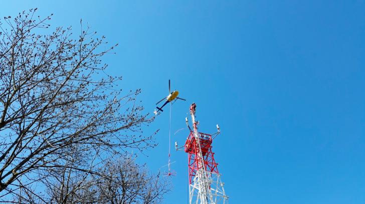 antena atc, helicóptero