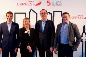 Iberia Express celebra su quinto aniversario