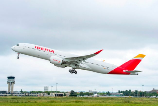 Iberia recibe su primer A350-900 (Video)