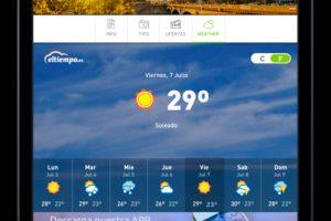 Iberia Express ofrece información meteorológica a bordo a través de su plataforma de entretenimiento