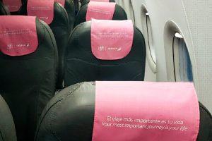 El rosa es protagonista en los aviones de Iberia