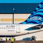 Primer Airbus A220 de JetBlue ya luce su librea