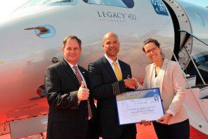 El Legacy 450 establece un récord de velocidad transatlántica entre Estados Unidos y Europa