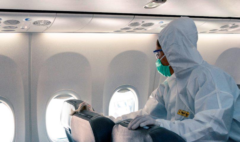 Aerolíneas Argentinas, coovid19, limpieza, avión