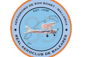 Logo 85º aniversario, real aeroclub de Balerares