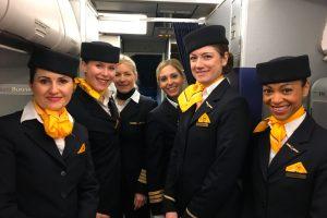Seis tripulaciones femeninas de Lufthansa Group despegan con motivo del Día Internacional de la Mujer