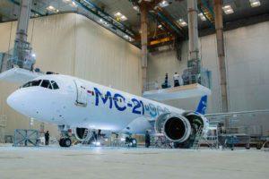MC-21-300, hangar de pintura aviones