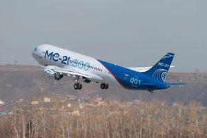 El MC-21-300 efectúa un vuelo de 4500 km sin hacer paradas