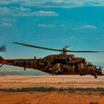 Un Mi-35P modernizado en el Foro Económico Rusia-África