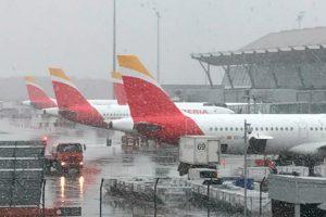 T4, Barajas, nieve, Iberia