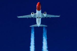 Norwegian, avión, estela