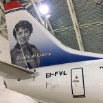 """Primer vuelo de prueba del A350 """"Plácido Domingo"""" de Iberia"""