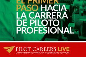 Adventia muestra su oferta formativa en la feria aeronáutica Pilot Careers Live
