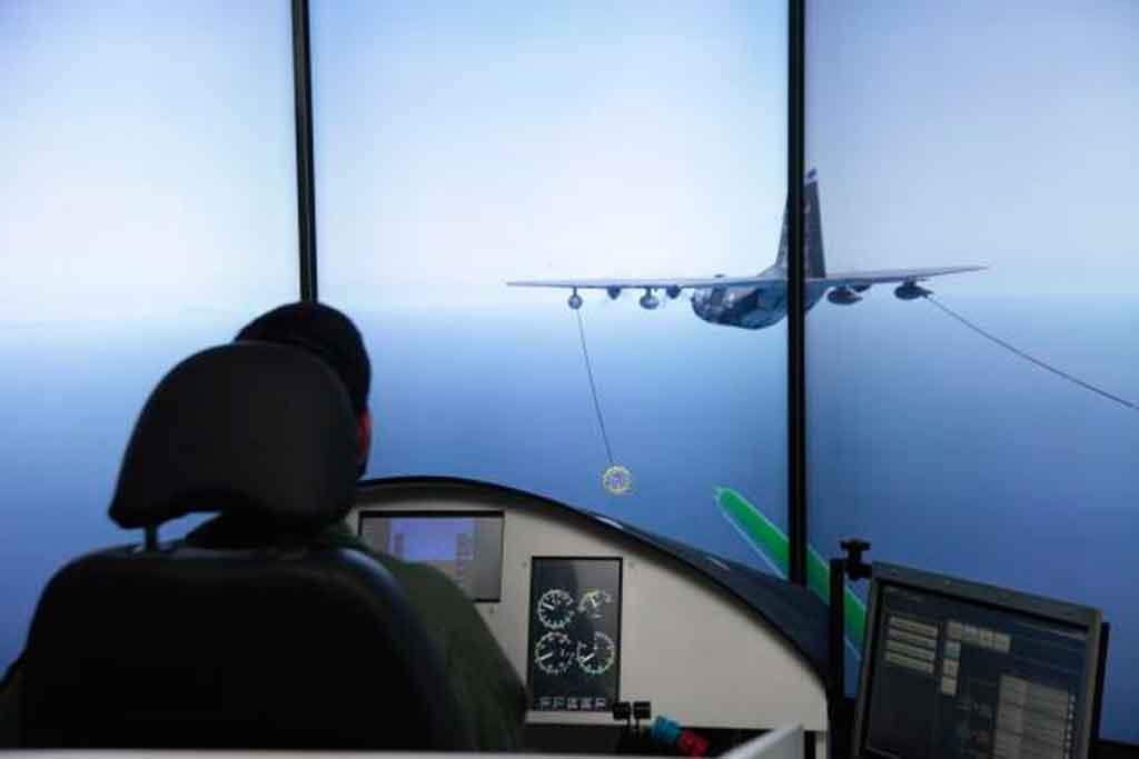 Simulación, reabastecimiento en vuelo, FAB