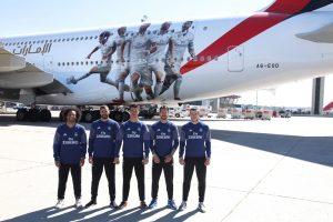 Emirates presenta el nuevo A380 con la imagen del Real Madrid